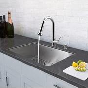 Vigo 30'' x 19'' Undermount Single Bowl 16 Gauge Stainless Steel Kitchen Sink w/ Faucet