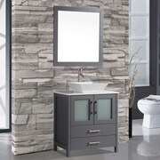 MTDVanities Tahiti 30'' Single Modern Bathroom Vanity Set w/ Mirror