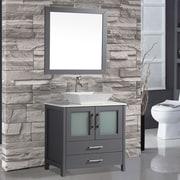 MTDVanities Tahiti 36'' Single Modern Bathroom Vanity Set w/ Mirror