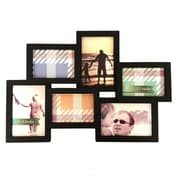 BestBuy Frames 6 Photo Collage Puzzle Style Picture Frame; Black