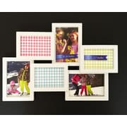 BestBuy Frames 6 Photo Collage Puzzle Style Picture Frame; White