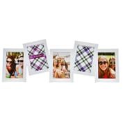 BestBuy Frames 5 Photo Collage Multi Dimensional Hanging Picture frame; White