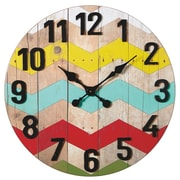 CBK Bloom 24'' Colorful Zig-Zag Wall Clock