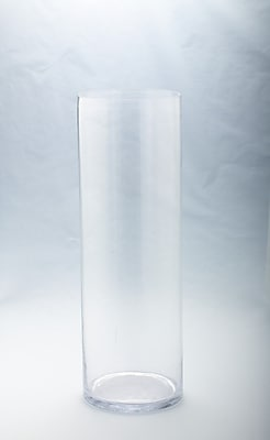 Diamond Star Glass Cylinder Vase; 23.5'' H x 8'' W x 8'' D WYF078278844956