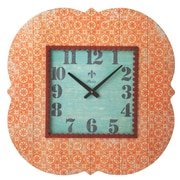 CBK Bloom Orange Pattern Wall Clock