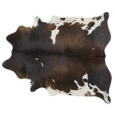 Pergamino Handmade Brown/White Area Rug; 7' x 7'6''