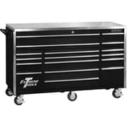 "Extreme Tools 72"" 17 Drawer Triple Bank Prof Roller Cab"