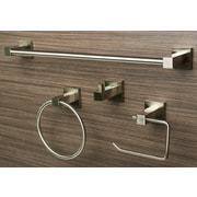 Sure-LocHardware 4 Piece Bathroom Hardware Set; Satin Nickel