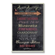 Stupell Industries Wine Tasting Chalkboard Look Textual Art Wall Plaque