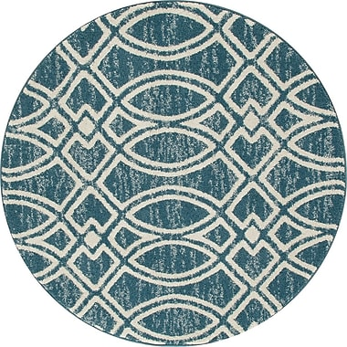 Art Carpet Highline Aqua Area Rug; Round 5'