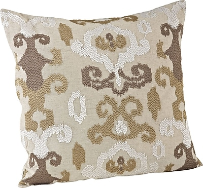 Saro Lili Anna Embroidered Throw Pillow; Chartreuse