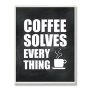 Stupell Industries Coffee Solves Everything Textual Art Wall Plaque