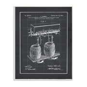 Stupell Industries 'Vintage Brewing Process Blueprint' Graphic Art Wall Plaque