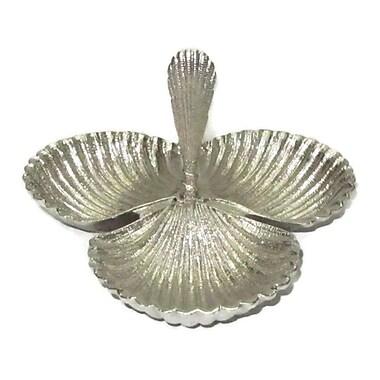 Elegance – Assiette triple en forme de coquillage