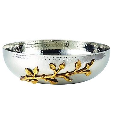 Elegance – Saladier avec feuille dorée, diamètre de 10 po