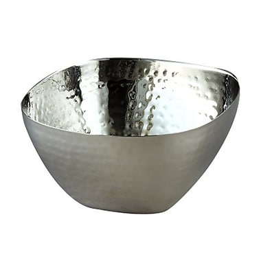 Elegance Stainless Steel Hammered Square, Bowl 10