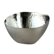 """Elegance Stainless Steel Hammered Square, Bowl 10"""""""