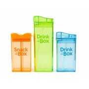 Drink in the Box – Paquet économique de Drink Box et Ice Box de 12 oz, vert et bleu