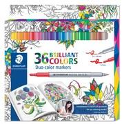 Staedtler – Marqueurs avec deux pointes, couleurs variées, paq./36 (320C36JB)