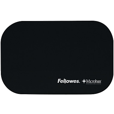 Fellowes® Microban® Travel Mouse Pad, Black, (5911101)