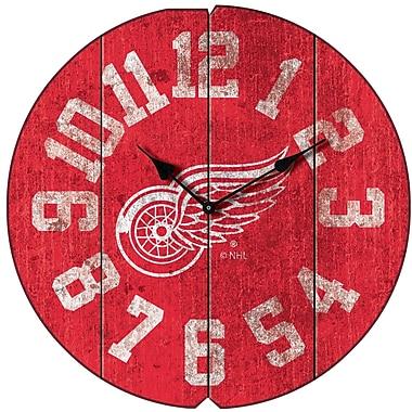Imperial NHL 16'' Vintage Wall Clock; Detroit Redwings