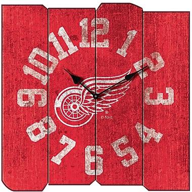 Imperial NHL Vintage Wall Clock; Detroit Redwings