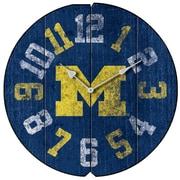 Imperial NCAA 16'' Wall Clock; University Of Michigan