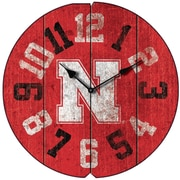 Imperial NCAA 16'' Wall Clock; University Of Nebraska