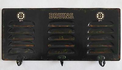 Imperial International NHL 3 Hook Metal Locker Coat Rack; Boston Bruins