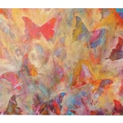 HadleyHouseCo Fancyfly by Jeff Boutin Painting Print on Wrapped Canvas; 11'' H x 14'' W x 1.5'' D