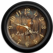 ReflectiveArt Live to Hunt 16'' Classic Wall Clock