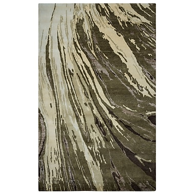 Rizzy Home Avant-Garde Collection New Zealand Wool Blend with Viscose Accents 2' x 3' Brown (AVGAG892700240203)