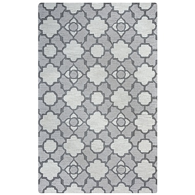 Rizzy Home Maggie Belle Collection 100% Wool 8'x10' Light Gray (MAGMB948100330810)