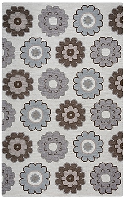 Rizzy Home Maggie Belle Collection 100% Wool 9'x12' Gray (MAGMB953837120912)