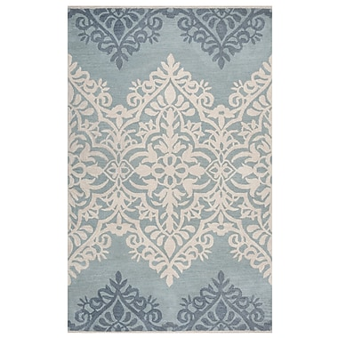 Rizzy Home Marianna Fields Collection 100% Wool 9'x12' Blue-Green (MARMF944400330912)