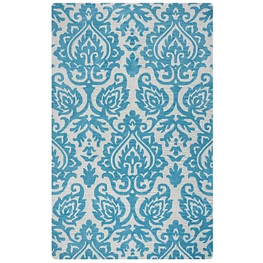Rizzy Home Marianna Fields Collection 100% Wool 9'x12' Aqua/Blue (MARMF945437890912)