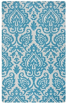 Rizzy Home Marianna Fields Collection 100% Wool 5'x8' Aqua/Blue (MARMF945437890508)