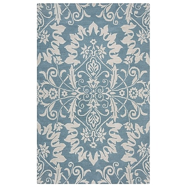 Rizzy Home Marianna Fields Collection 100% Wool 9'x12' Light Blue (MARMF9492ZT370912)