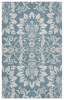Rizzy Home Marianna Fields Collection 100% Wool 5'x8' Light Blue (MARMF9492ZT370508)