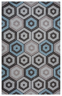 Rizzy Home Marianna Fields Collection 100% Wool 9'x12' Multi-Colored (MARMF9519TA000912)