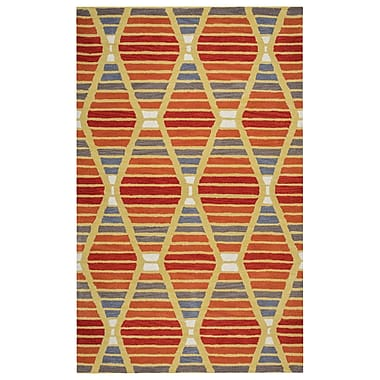 Rizzy Home Marianna Fields Collection 100% Wool 8'x10' Multi-Colored (MARMF952060330810)