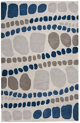 Rizzy Home Marianna Fields Collection 100% Wool 9'x12' Gray (MARMF952337460912)