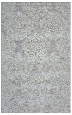 Rizzy Home Marianna Fields Collection 100% Wool 5'x8' Beige (MARMF958900420508)