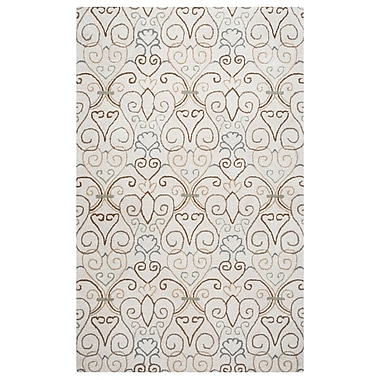 Rizzy Home Palmer Collection 100% Wool 8'x10' Ivory (PALPA931900040810)