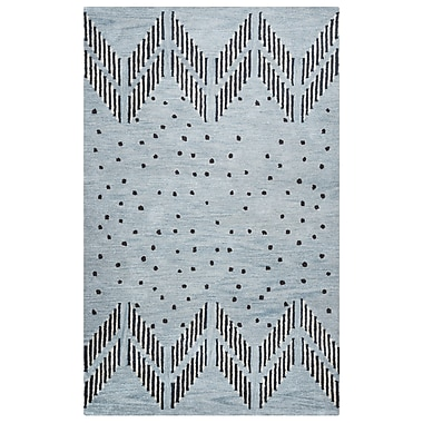 Rizzy Home Tumble Weed Loft Collection 100% Wool 9'x12' Blue/Light Blue (TBLTL924900430912)