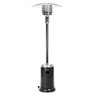 Fire Sense® 46000 BTU Stainless Steel Commercial Patio Heater, Hammer Tone Black