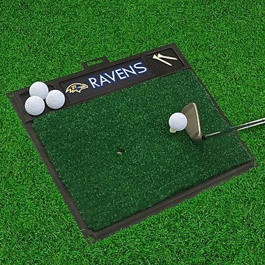 FANMATS NFL - Golf Hitting Mat; Baltimore Ravens