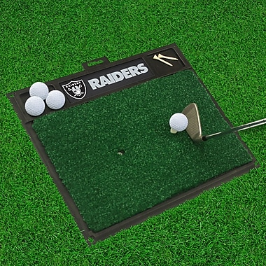 FANMATS NFL - Golf Hitting Mat; Oakland Raiders