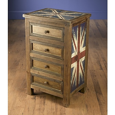 AA Importing Britania 4 Drawer Chest
