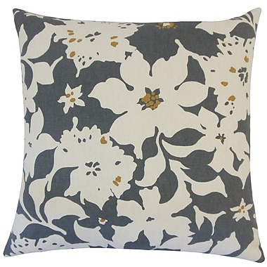The Pillow Collection Ogima Floral Cotton Throw Pillow; 18'' H x 18'' W x 5'' D